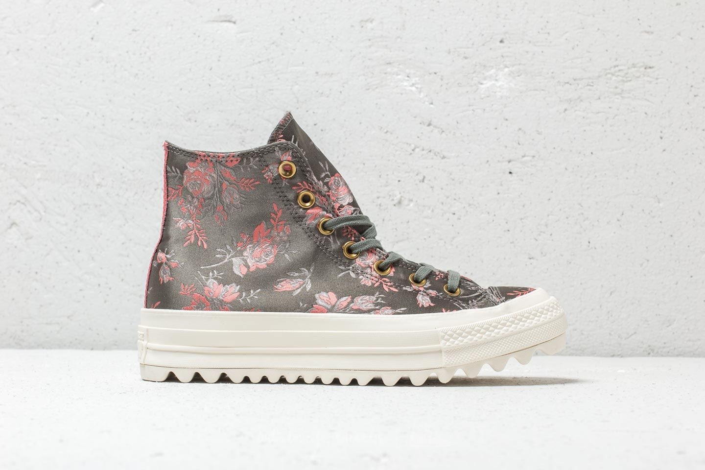 94155d5502a7 Converse Chuck Taylor All Star Lift Ripple Hi River Rock  Floral  Egret at a