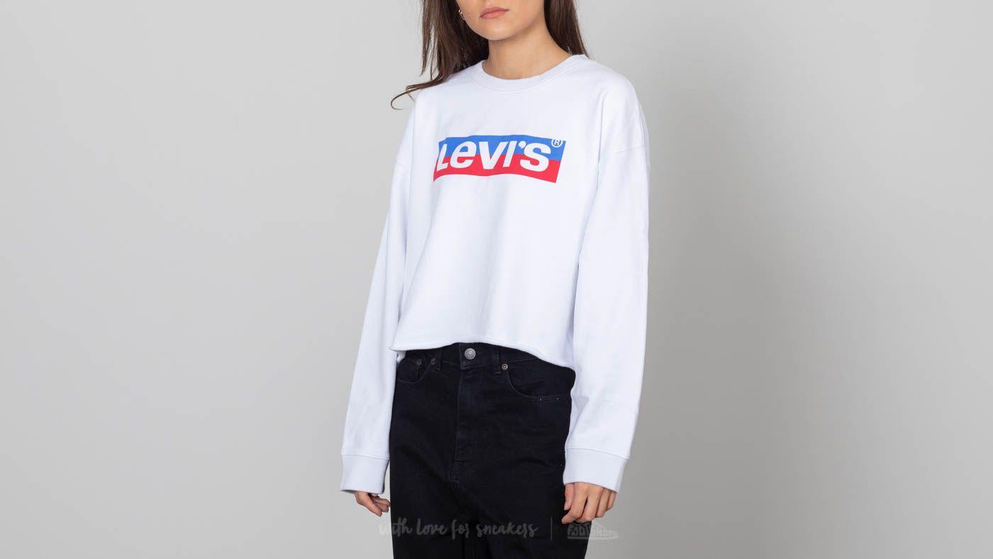 Levi's® Graphic Raw Cut Crewneck White