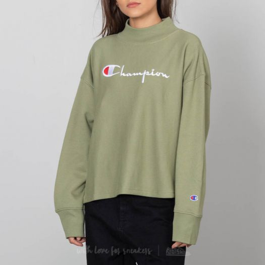 Champion Crewneck Sweatshirt Olive Green