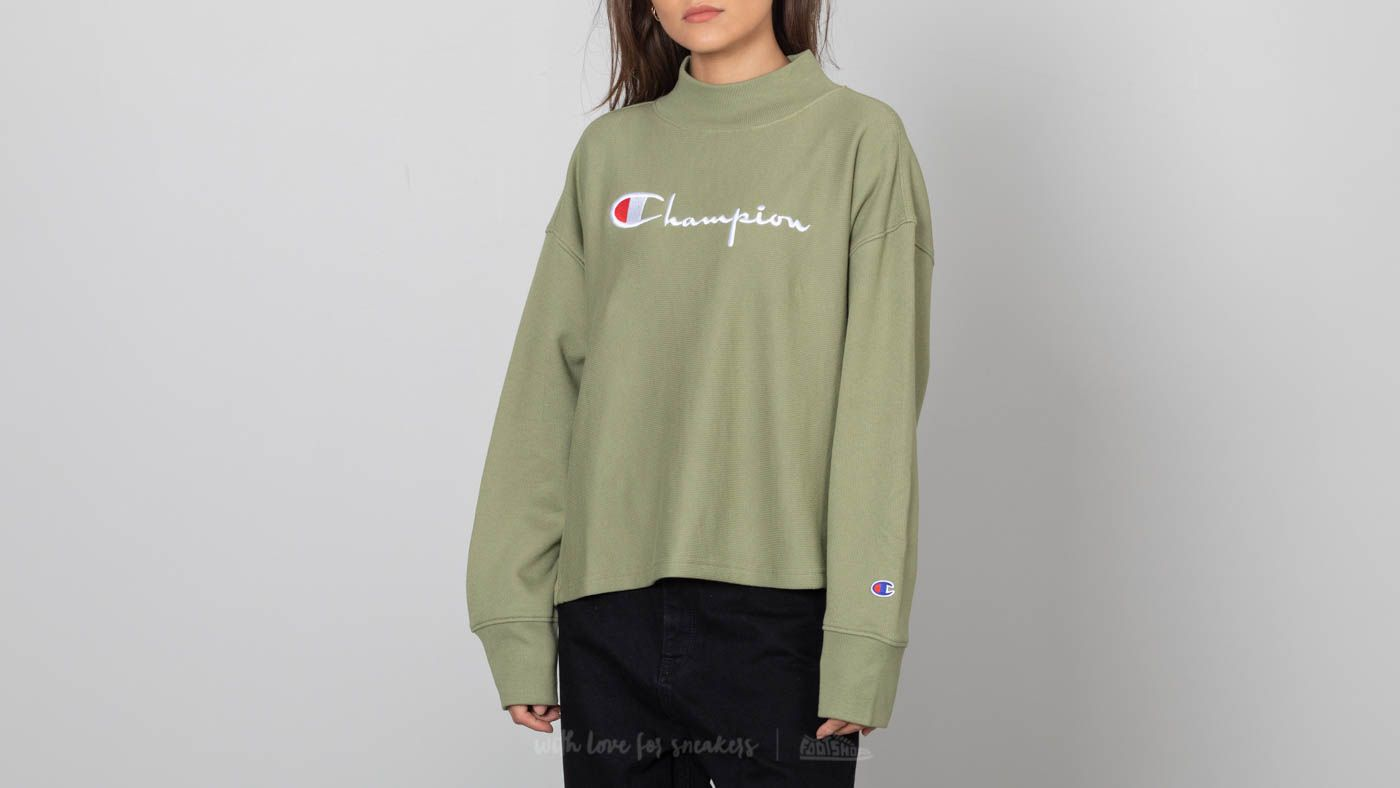 40a8b4de Champion Crewneck Sweatshirt Olive Green | Footshop