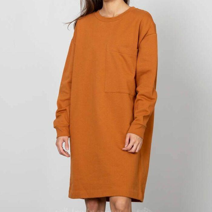 SELECTED Alexandra Sweat Dress Glazed Ginger, Brown