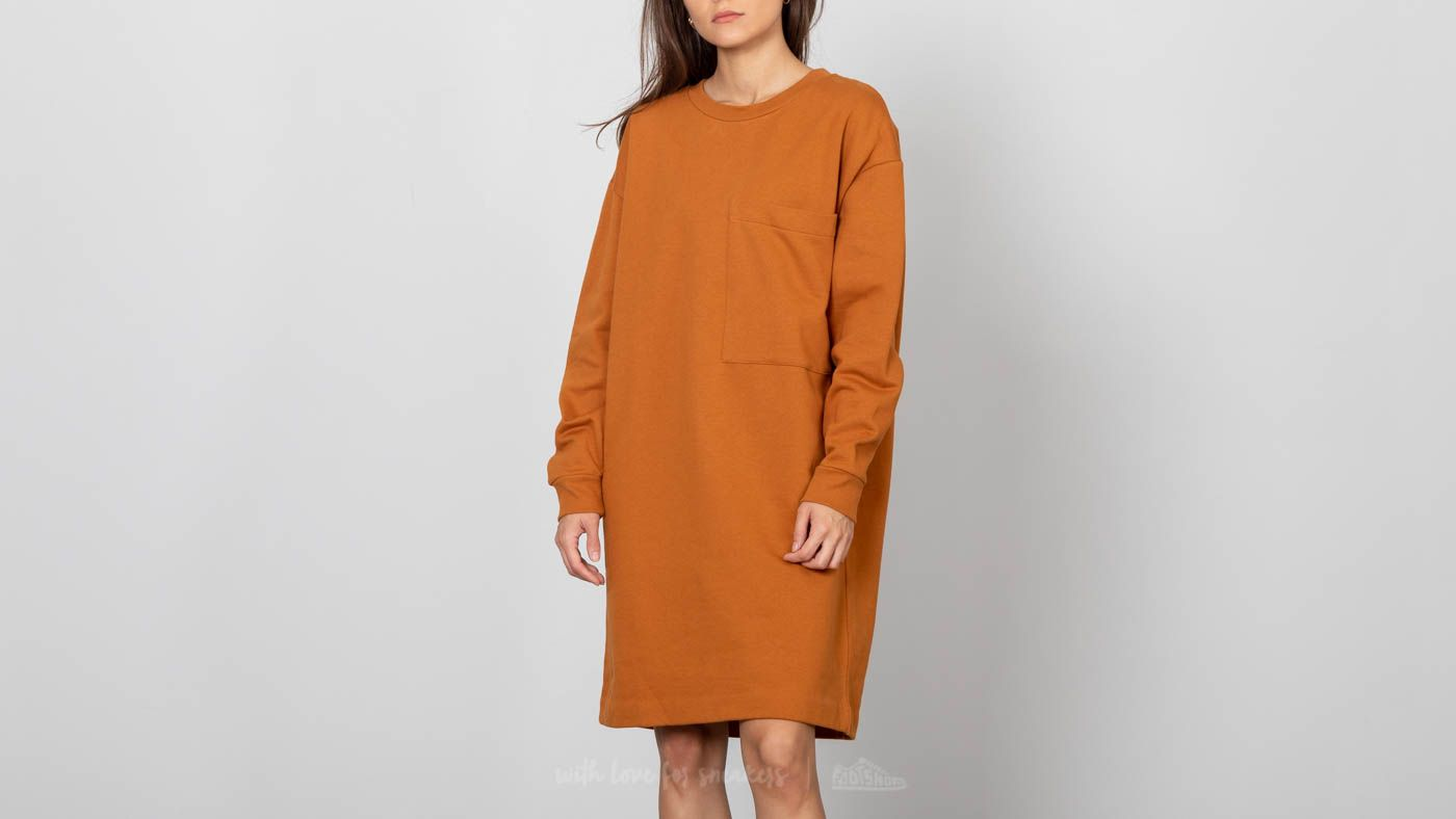 SELECTED Alexandra Sweat Dress Glazed Ginger za skvělou cenu 1 000 Kč koupíte na Footshop.cz
