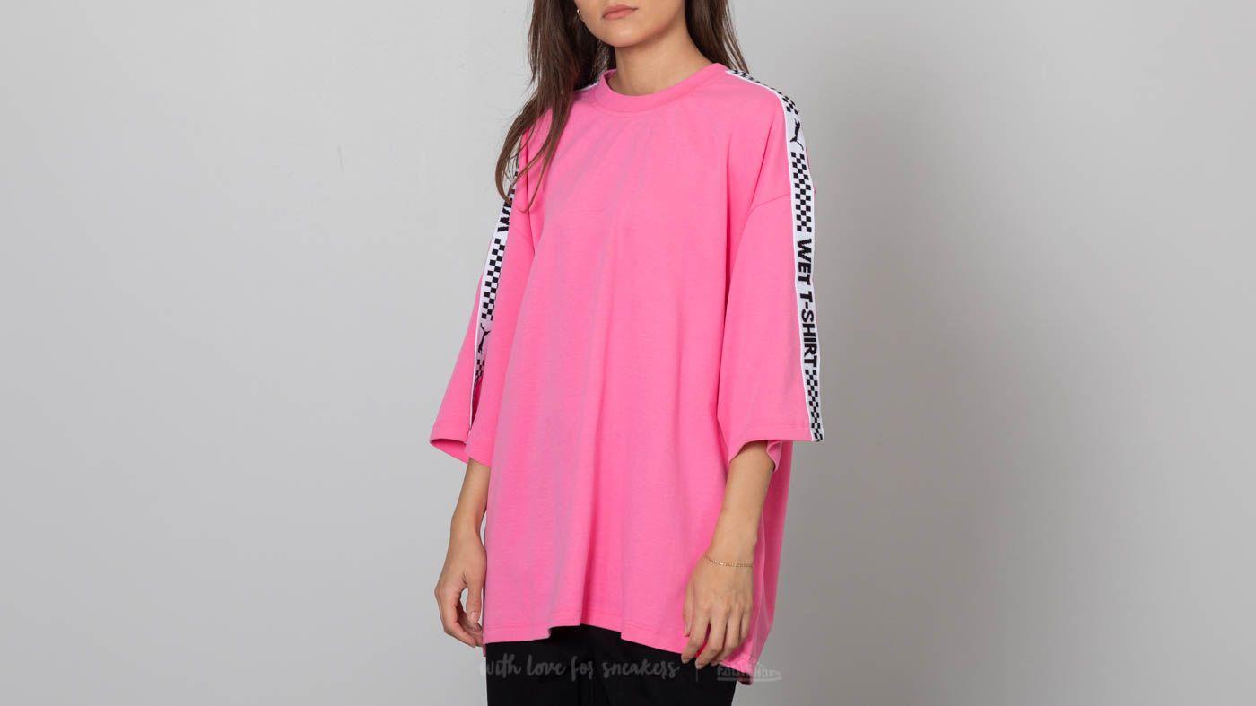 cfeb9a51864 Puma Fenty x Rihanna SS Crew Neck T-Shirt Knockout Pink au meilleur prix 77