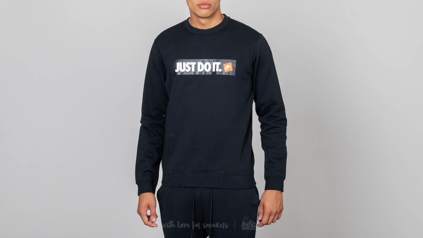 78c93785349f31 Nike Sportswear Hybrid Fleece Crewneck Black
