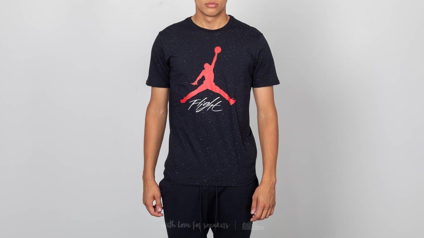 3c6077e6062462 Jordan Sportswear Flight Cement AOP Tee Black