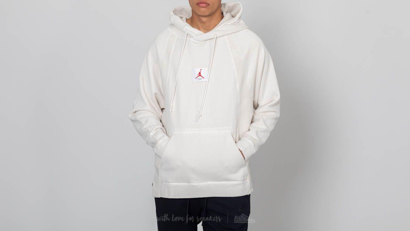 c09bcfe003c0ab Jordan Sportswear Wings Washed Fleece Pullover Light Bone
