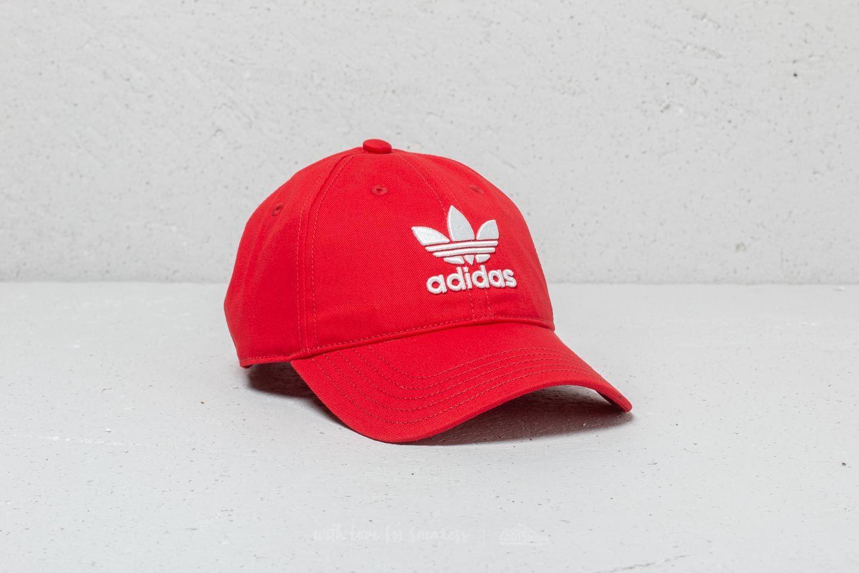 adidas Trefoil Classic Cap Red  8302fd7eb08