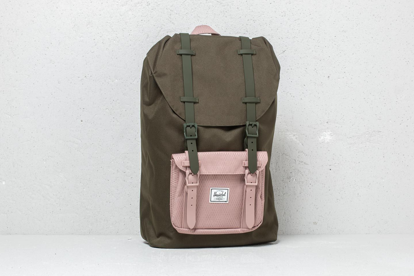 be5d3f3f24 Herschel Supply Co. Lil America Mid Volume Backpack Forest Night  Ash Rose