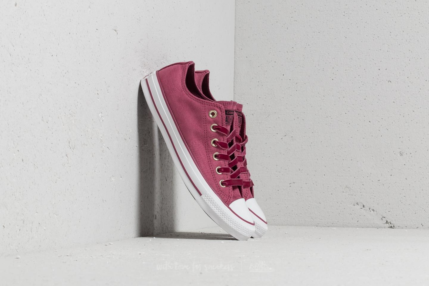 1dd91490a02857 Converse Chuck Taylor All Star OX Vintage Wine  Vintage Wine ...