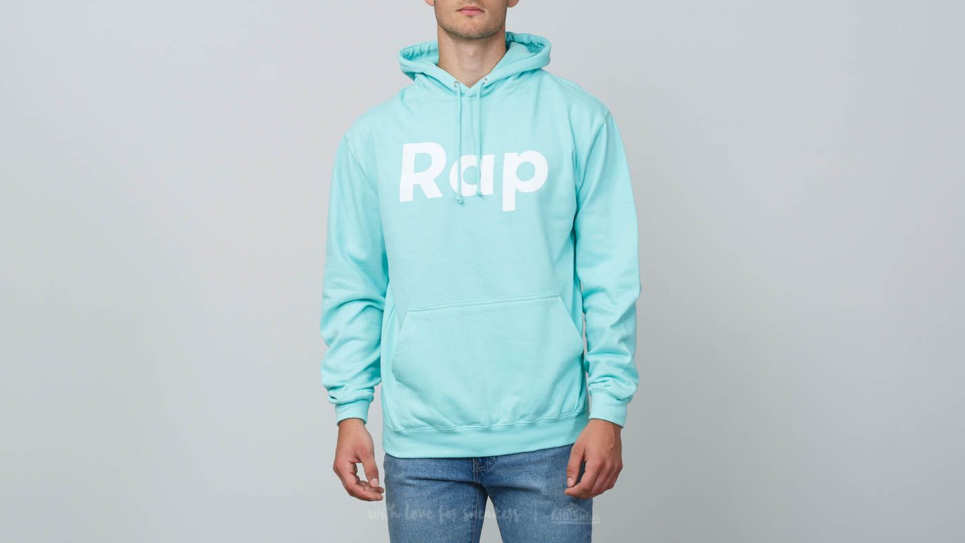 Mikiny a svetry RAP Hoodie Peppermint/ White