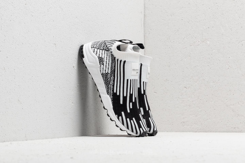 fabbf4e2ab96 adidas EQT Support Sock Primeknit Ftw White  Core Black  Sub Green ...