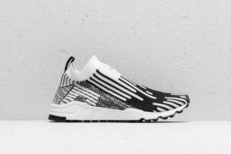 adidas EQT Support Sock Primeknit Ftw White Core Black Sub Green | Footshop