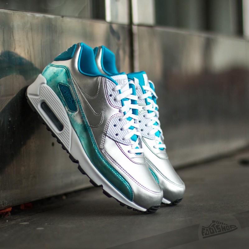 Nike Silverwhite Metallic Qs Wmns 90 Clearblue Max Ligh Prm Air rxwqZ0rHv