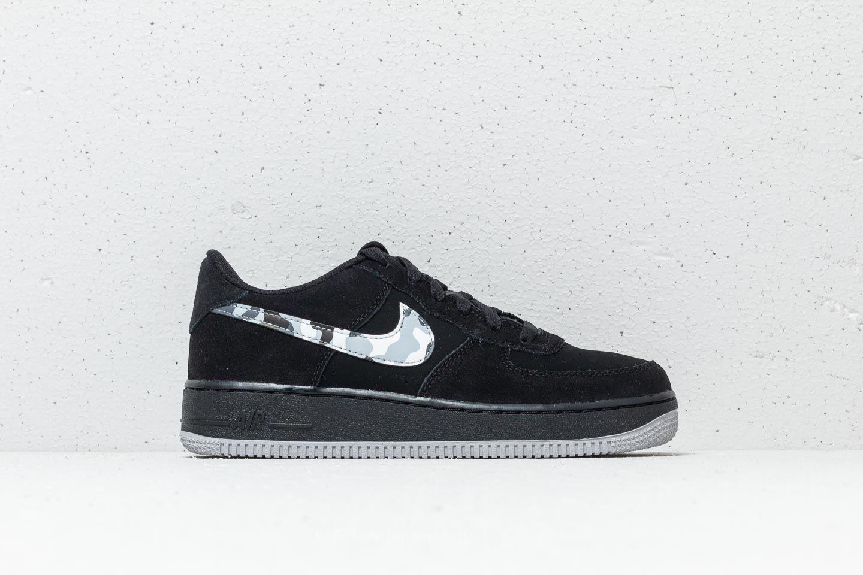 hot sale online 1e981 eff44 Nike Air Force 1 (GS) Black Wolf Grey-Dark Grey at a