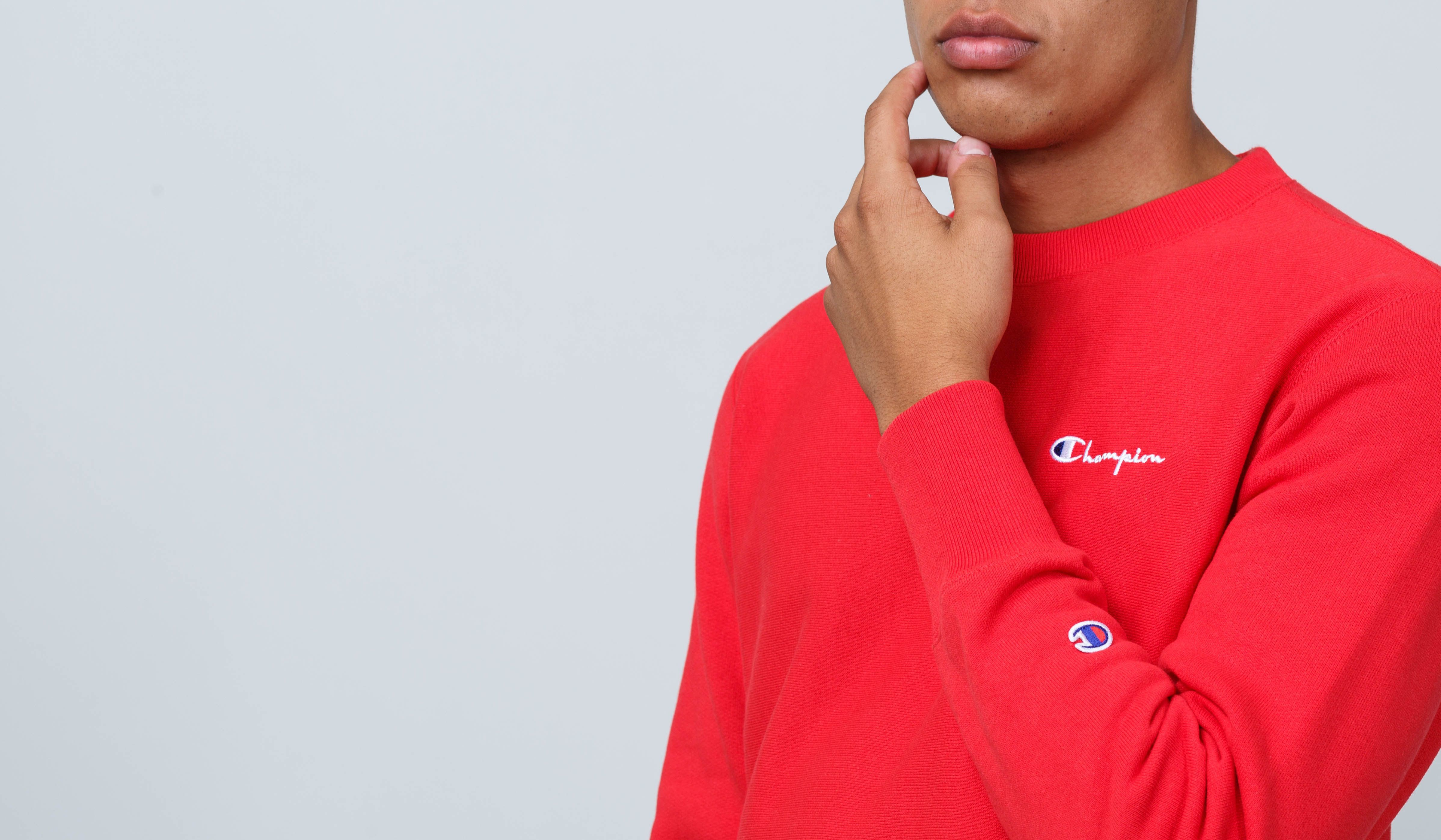 Champion Crewneck Sweatshirt Red