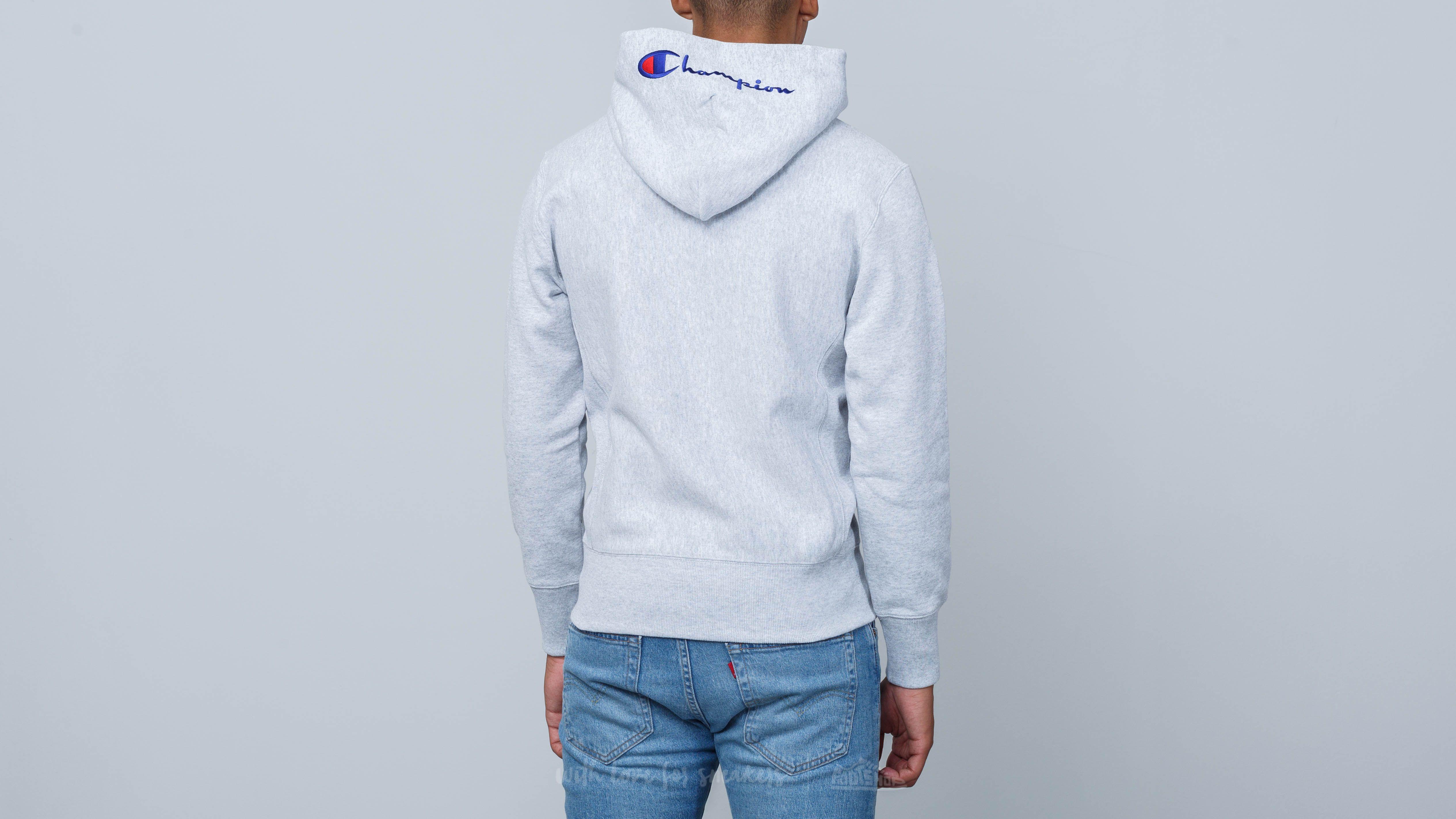 431fa6e01f45 Champion Hooded Full Zip Sweatshirt Light Oxford Grey Melange at a great  price £62 buy