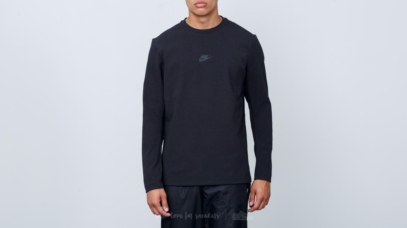 46ac48e9d4d Nike Sportswear Tech Pack Longsleeve Crewneck Black at a great price 39 €  buy at Footshop