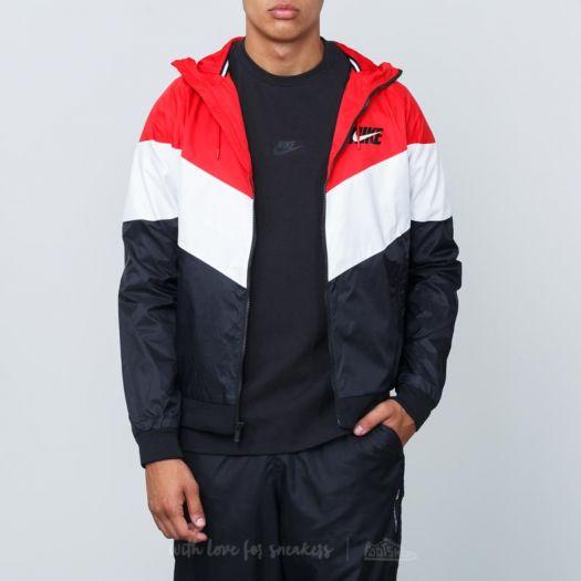 Nike Sportswear Windrunner Hooded Track Jacket University Red Summit White Black | Footshop