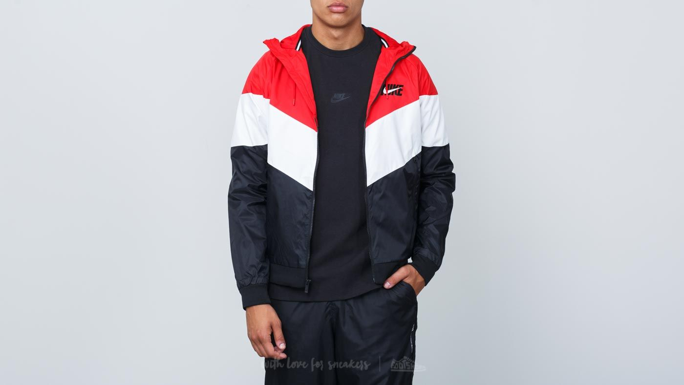 d9d64e7063 Nike Sportswear Windrunner Hooded Track Jacket University Red  Summit  White  Black at a great