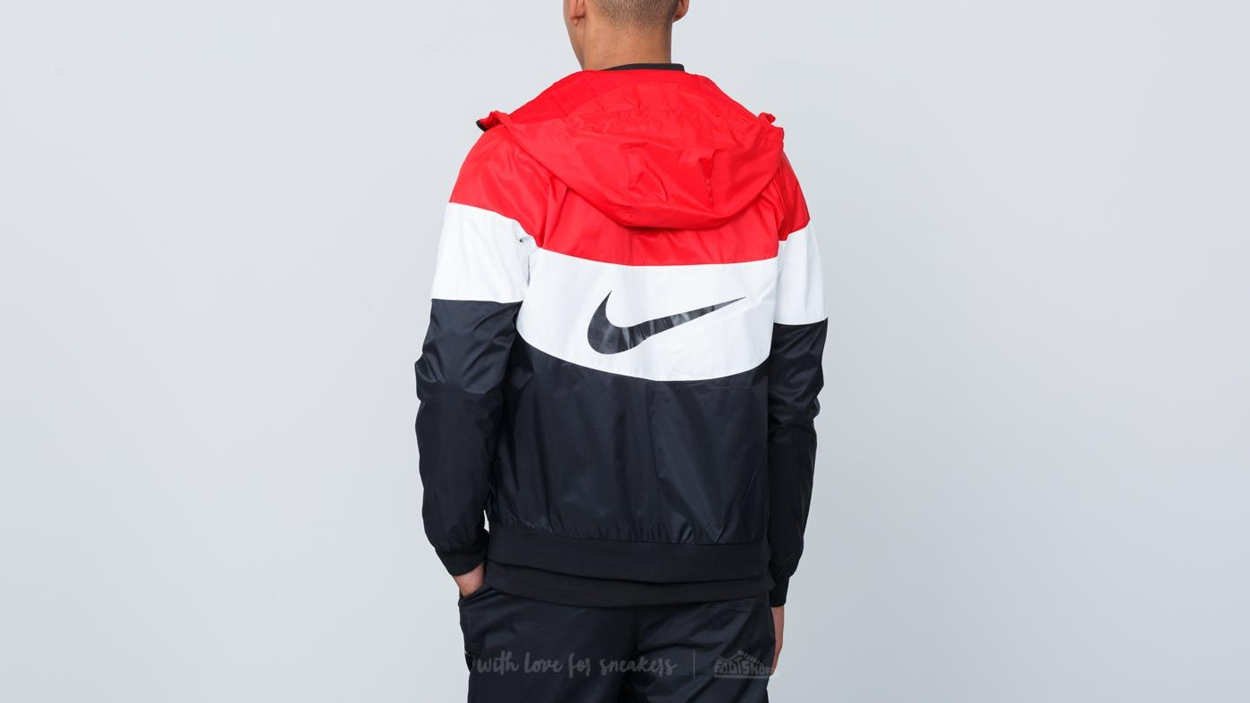 Nike Sportswear Windrunner Hooded Track Jacket University Red  Summit  White  Black at a great 6ae60a34f