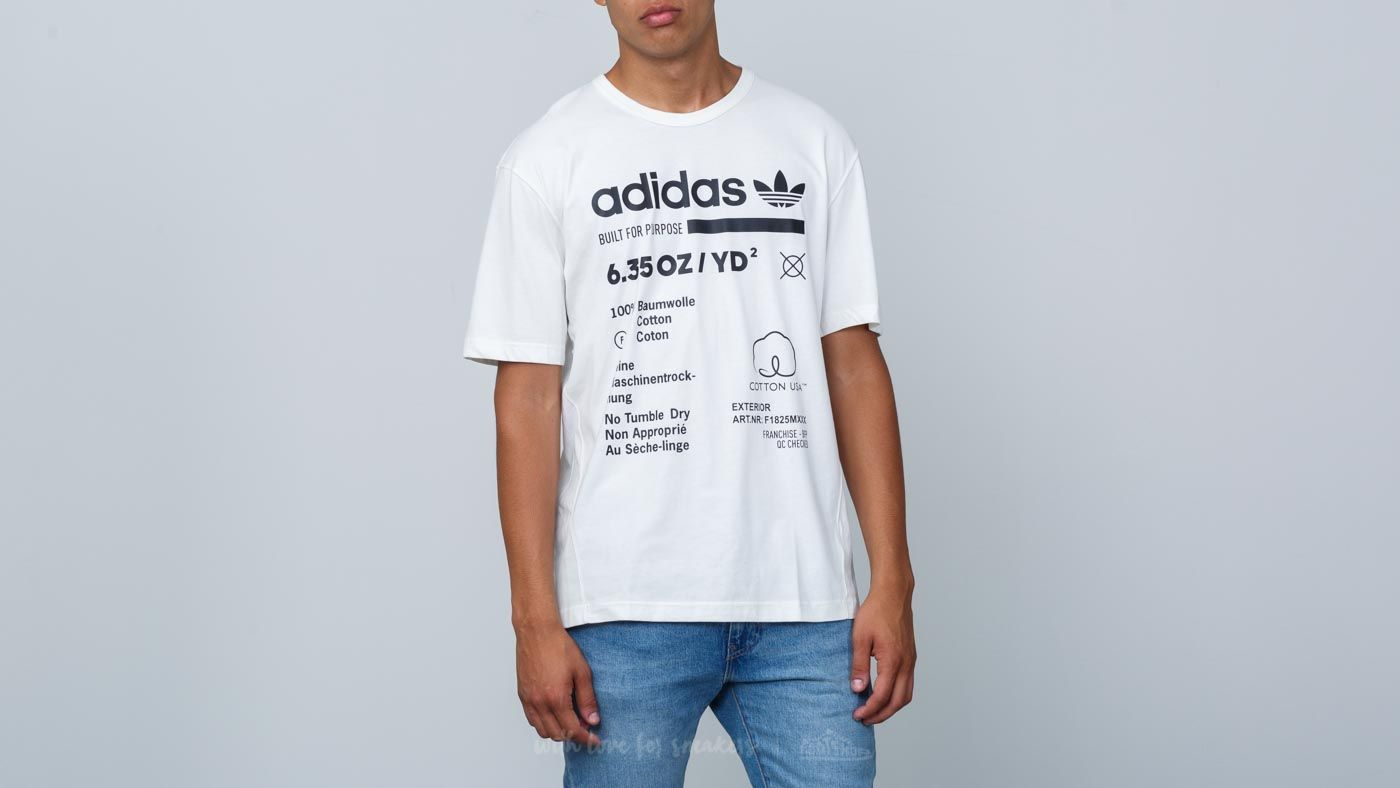 dda03e1374 adidas Kaval Graphic Tee Cloud White/ Black | Footshop
