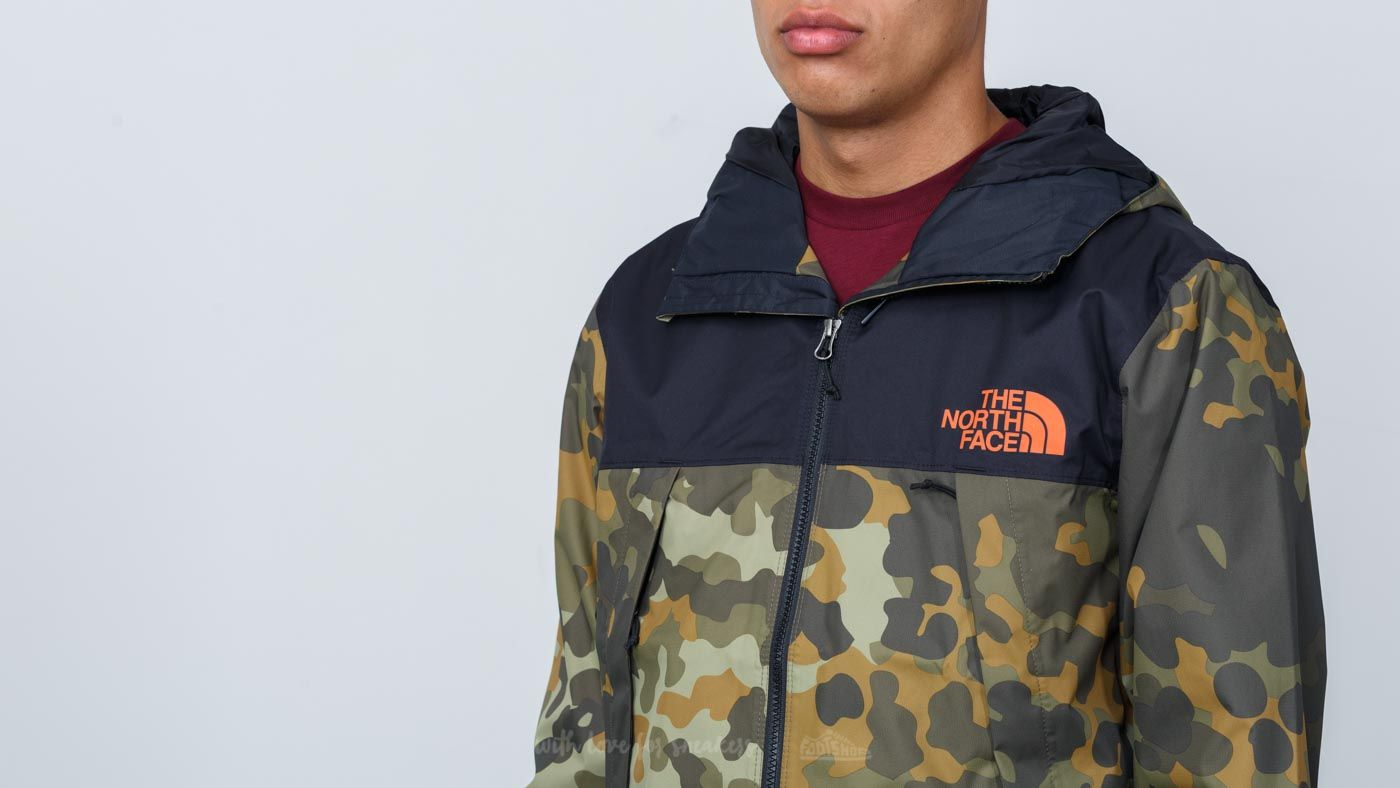 ed09dec05 The North Face Mountain Q Jacket New Taupe Green/ Macrofleck Print ...