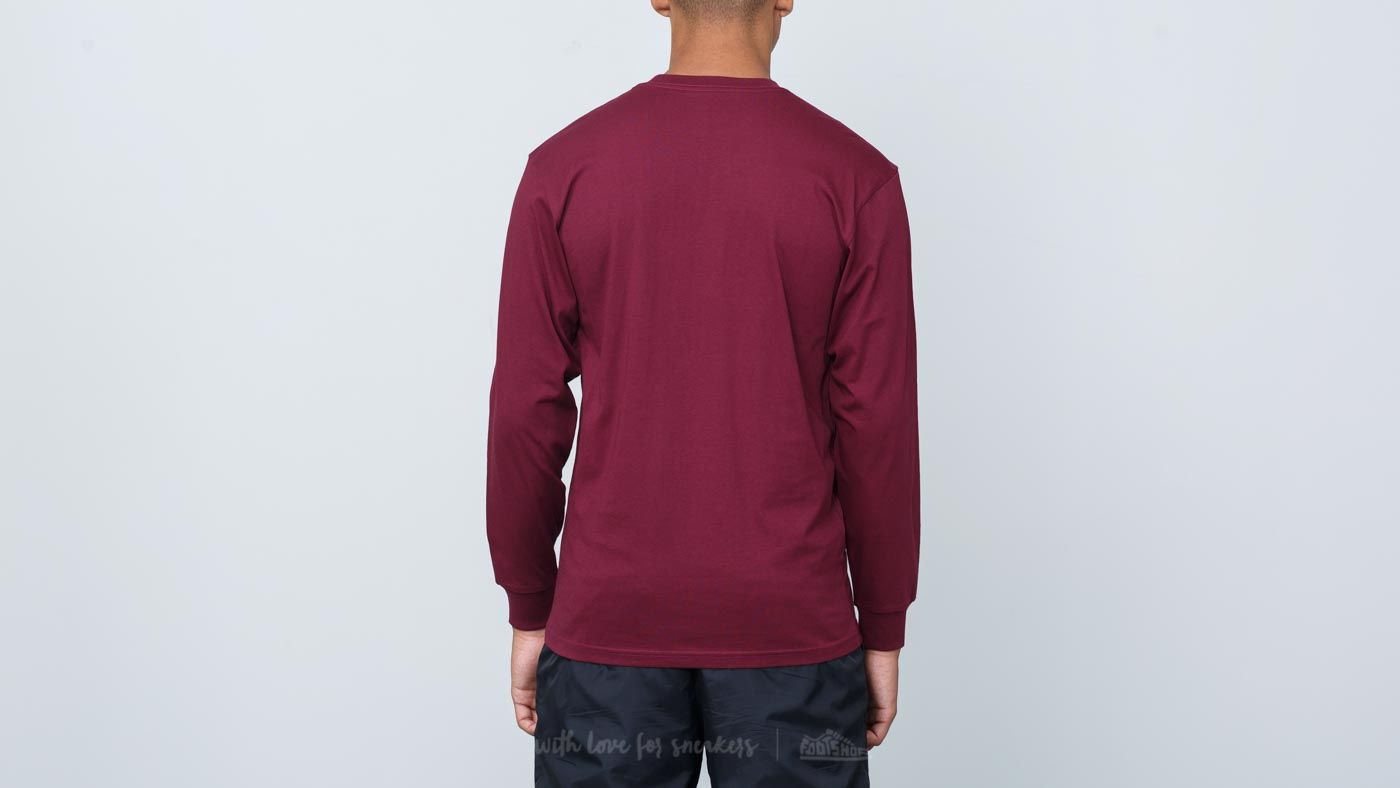 f3d4c0b55f Vans Off The Wall Longsleeve Burgundy  White at a great price £16 buy at