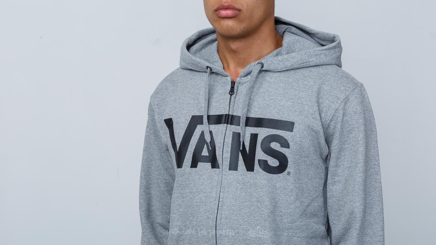 3ea745ae2234 ... latest design fdd1d 4097a Vans Classic Zip Hoodie Concrete Heather  Black at a great price 59 ...