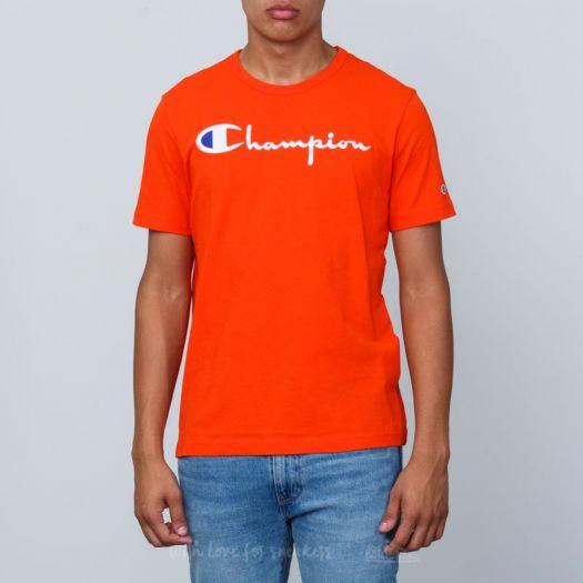 Nike Men's Crew Neck t Shirt in Orange