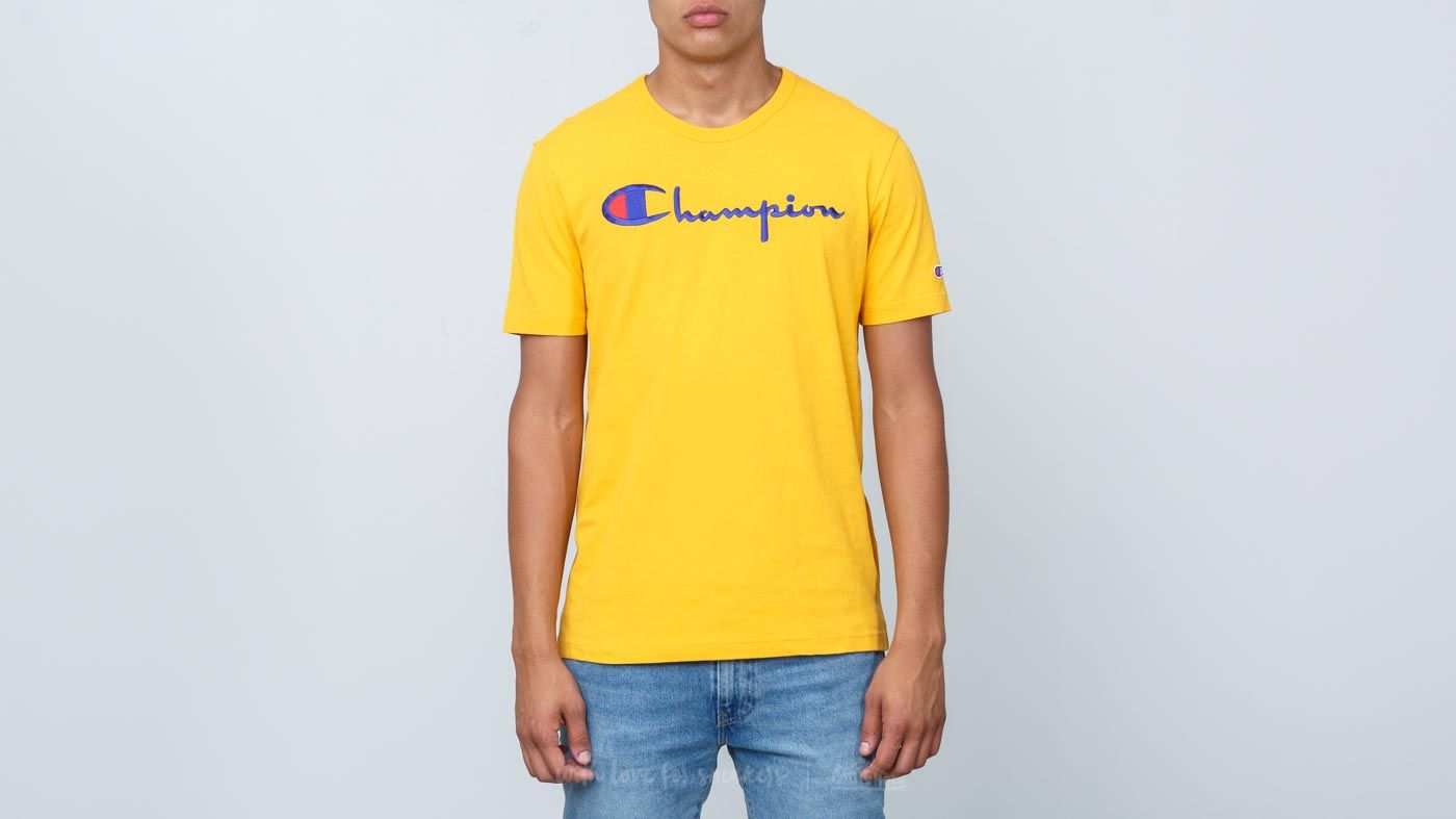 e10c0597 Champion Crewneck T-Shirt Gold | Footshop