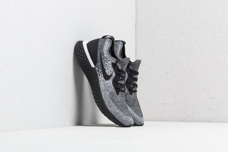 1fbd23a0546 Nike Epic React Flyknit Black  Black-White