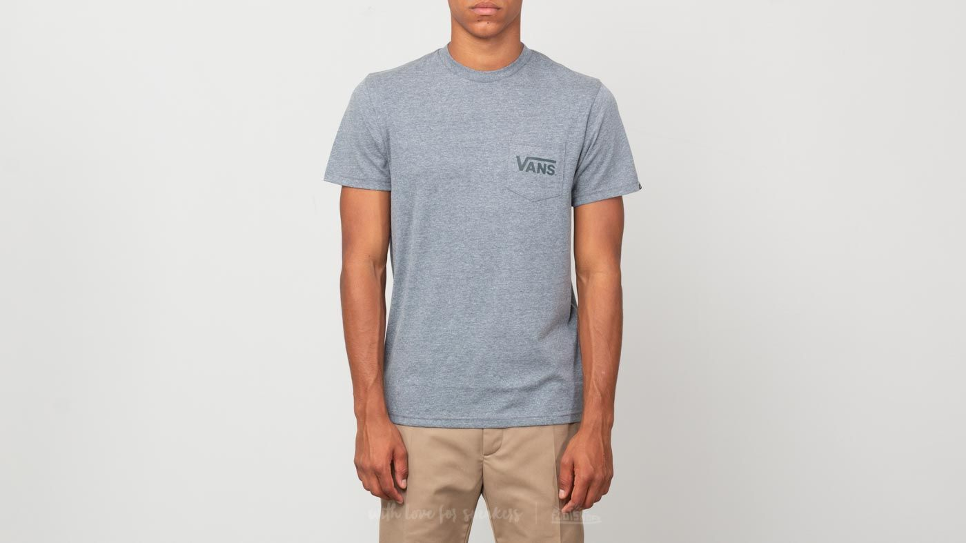 f57f3a6cde Vans Off The Wall Classic Tee Heather Grey  Darkest Spruce at a great price   30