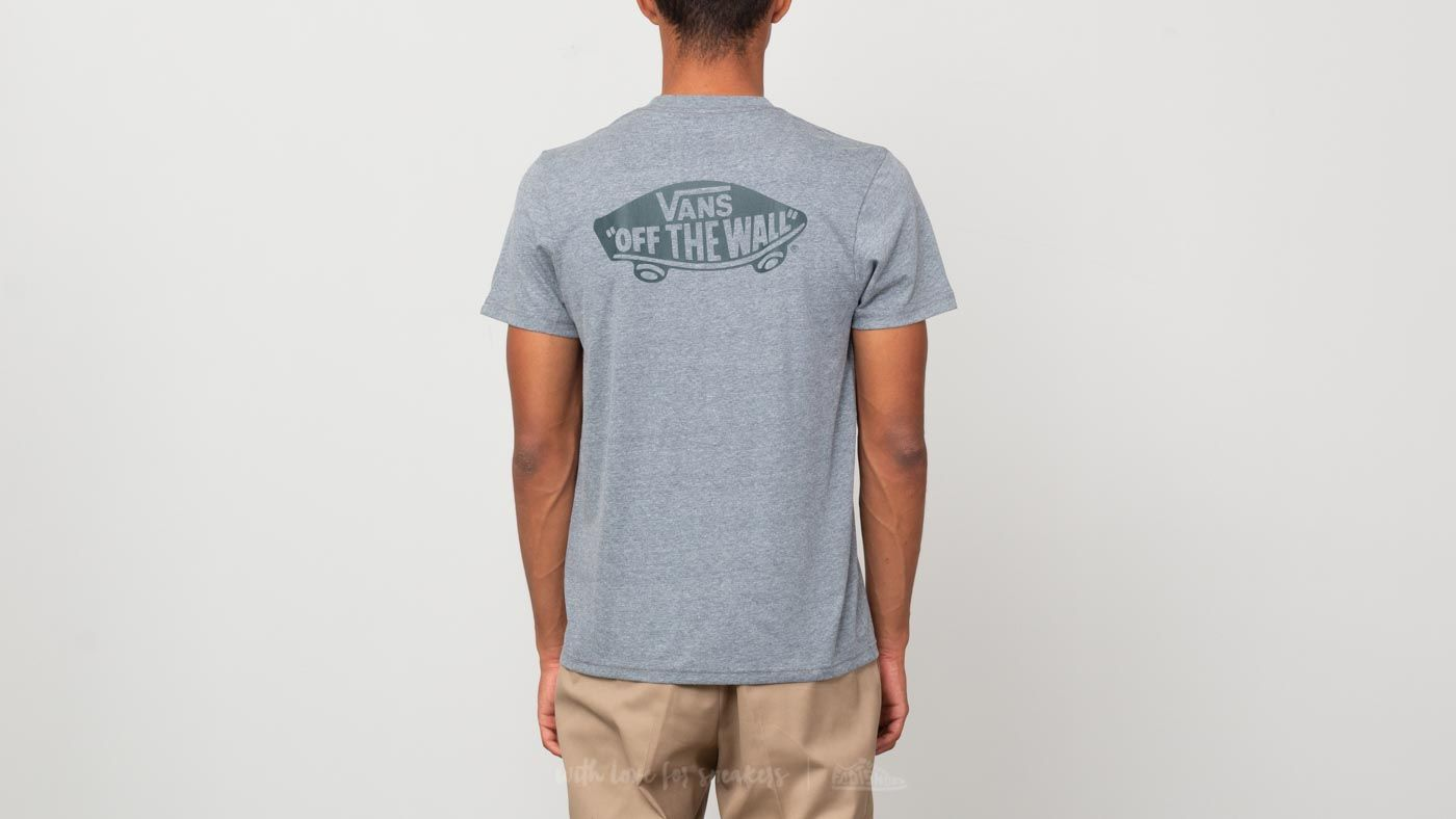 ed5ee79b183 Vans Off The Wall Classic Tee Heather Grey  Darkest Spruce at a great price  26