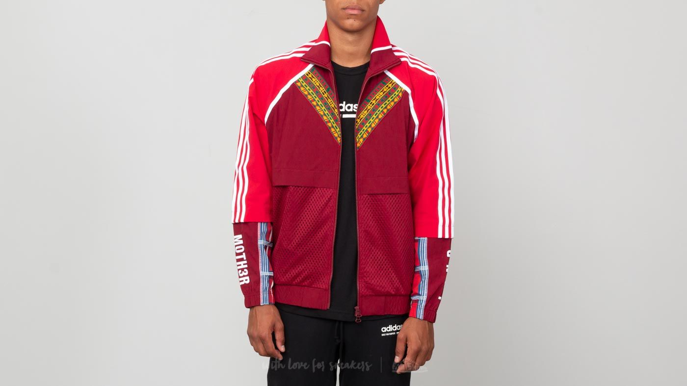 official photos a5b82 07adf adidas x Pharrell Williams HU Afro Tracktop Collegiate Burgundy at a great  price £99 buy