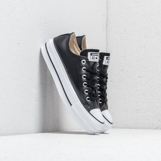 Converse Chuck Taylor All Star Lift Clean OX Black/ Black/ White | Footshop