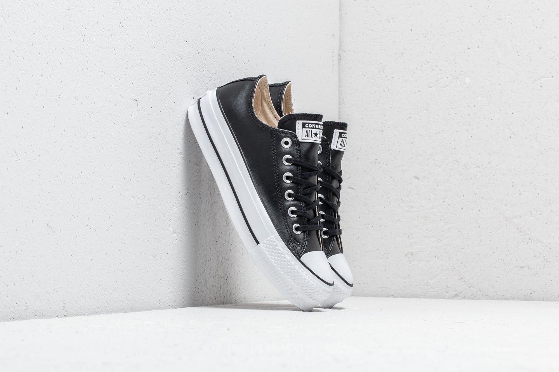Converse Chuck Taylor All Star Lift Clean OX Black Black White | Footshop