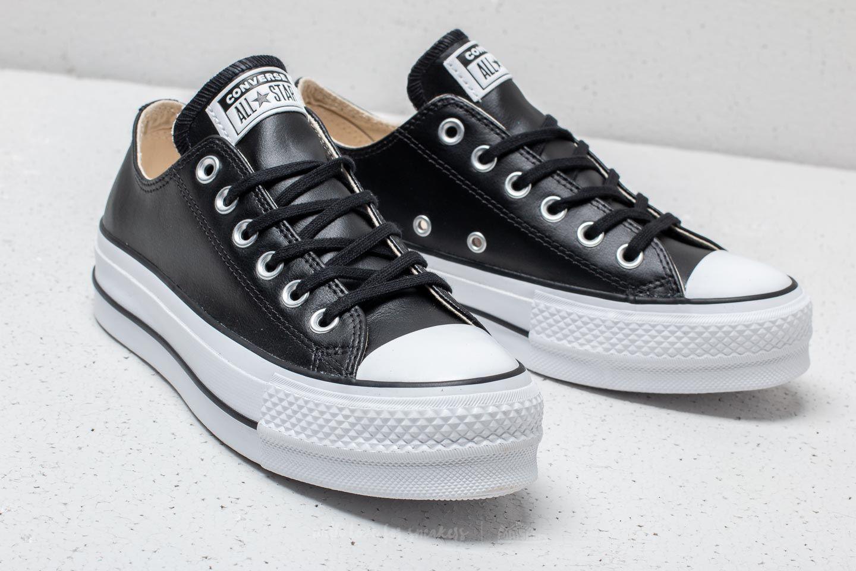 Converse Chuck Taylor All Star Lift Clean OX Black/ Black/ White | Footshop