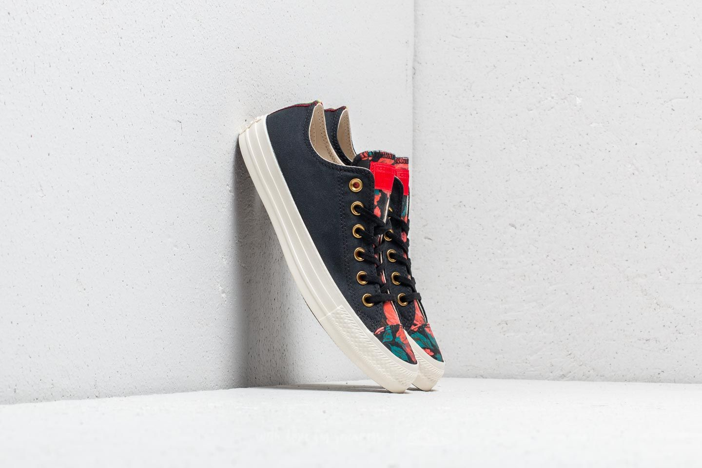 0e5834775d2a14 Converse Chuck Taylor All Star OX Black  Cherry Red  Egret at a great price