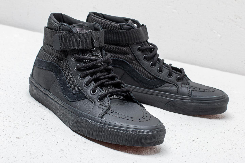 Vans Sk8 Hi Reissue (Leather) Ballistic Black | Footshop