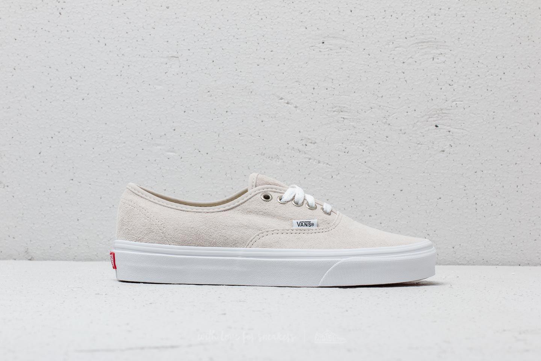 Vans Authentic Moonbeam & True Weiß Pig Suede Skate Schuhe