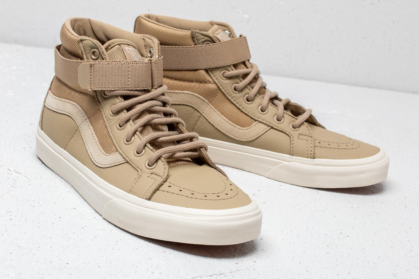 Vans Sk8-Hi Reissue Strap (Leather) Ballistic/ Cornstalk | Footshop