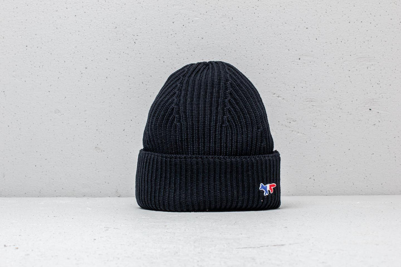 meet 5357a 8f96a MAISON KITSUNÉ Ribbed Hat Black