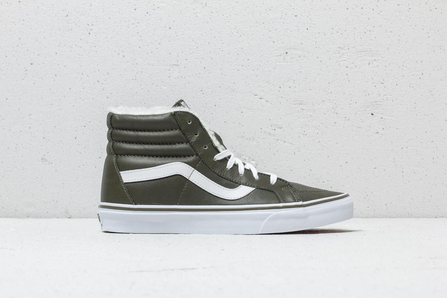 Vans Sk8-Hi Reissue (Leather/ Fleece) Olive Night | Footshop