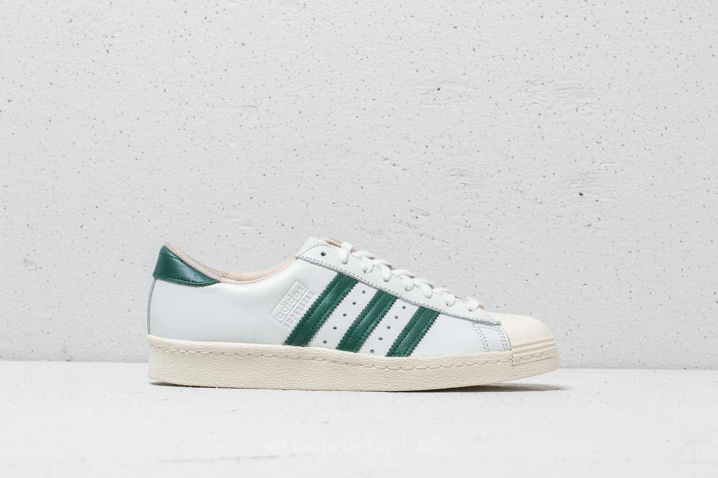 8f30c0612ac adidas Superstar 80s Recon Crystal White  Collegiate Green  Off White at a great  price