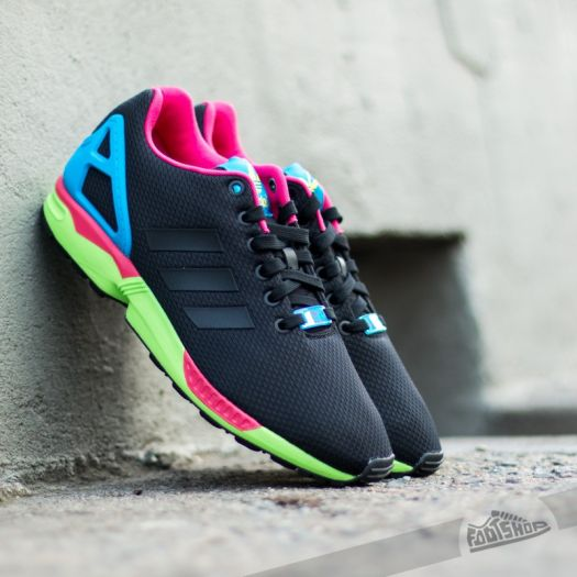 on sale f8516 3f7a6 adidas ZX Flux Core Black/Core Black/Solar Green | Footshop