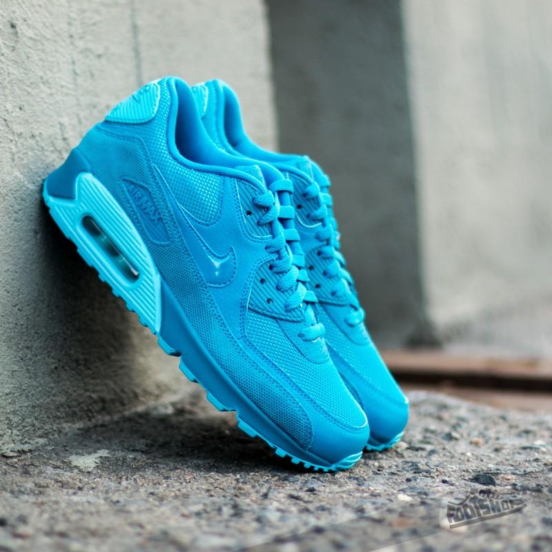 Nike Womens Air Max 90 Premium Light Blue Lacquer