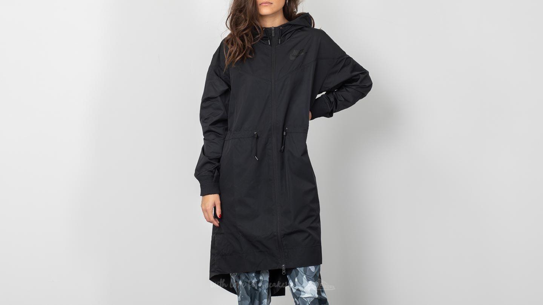 201705f483 Nike Sportswear Windrunner Long Novelty Jacket Black