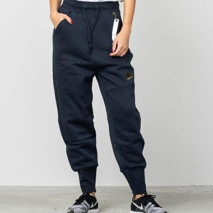 Nike Sportswear Fleece Jogger Pants Dark Obsidian/ Olive Canvas, Black