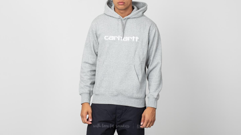 2a09195ff61 Carhartt WIP Hooded College Sweat Grey Heather/ White | Footshop