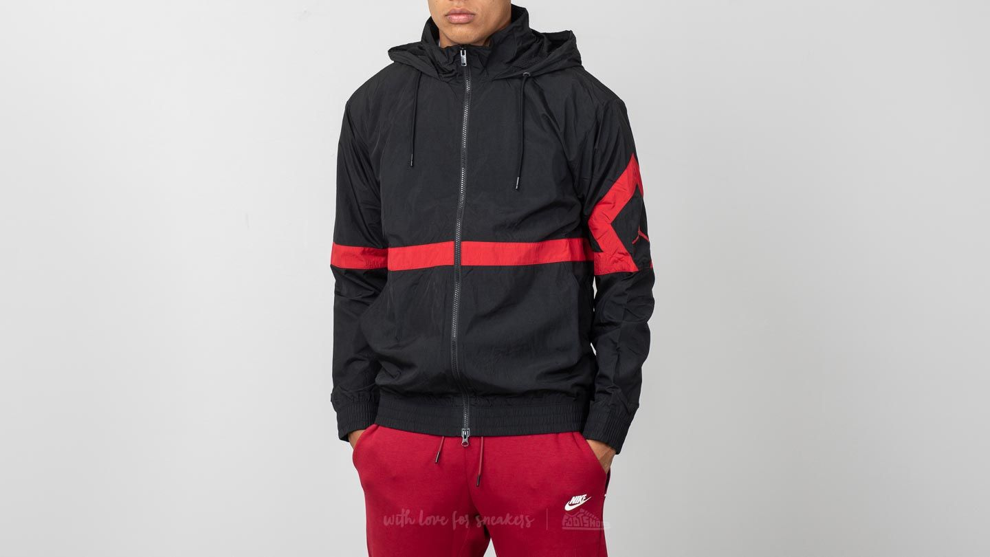 Jordan Sportswear Diamond Jacket Black  Gym Red  467fbb74ce
